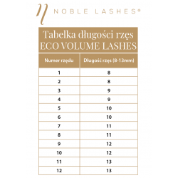 Rzęsy Eco Volume Lashes C 0,07 MIX (8-13 mm) Noble Lashes