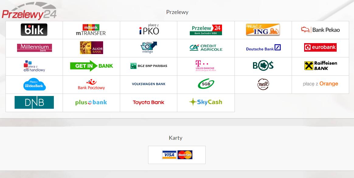 de3896e4416794 Do kwoty zamówienia doliczane jest 2,3% płacąc przez Przelewy24 lub 2,9%  płacąc przez PayPal, jako koszt obsługi płatności on-line.